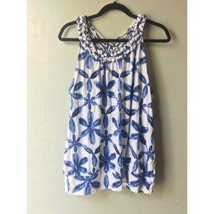 Lane Bryant sleeveless top Blue and white 18/20